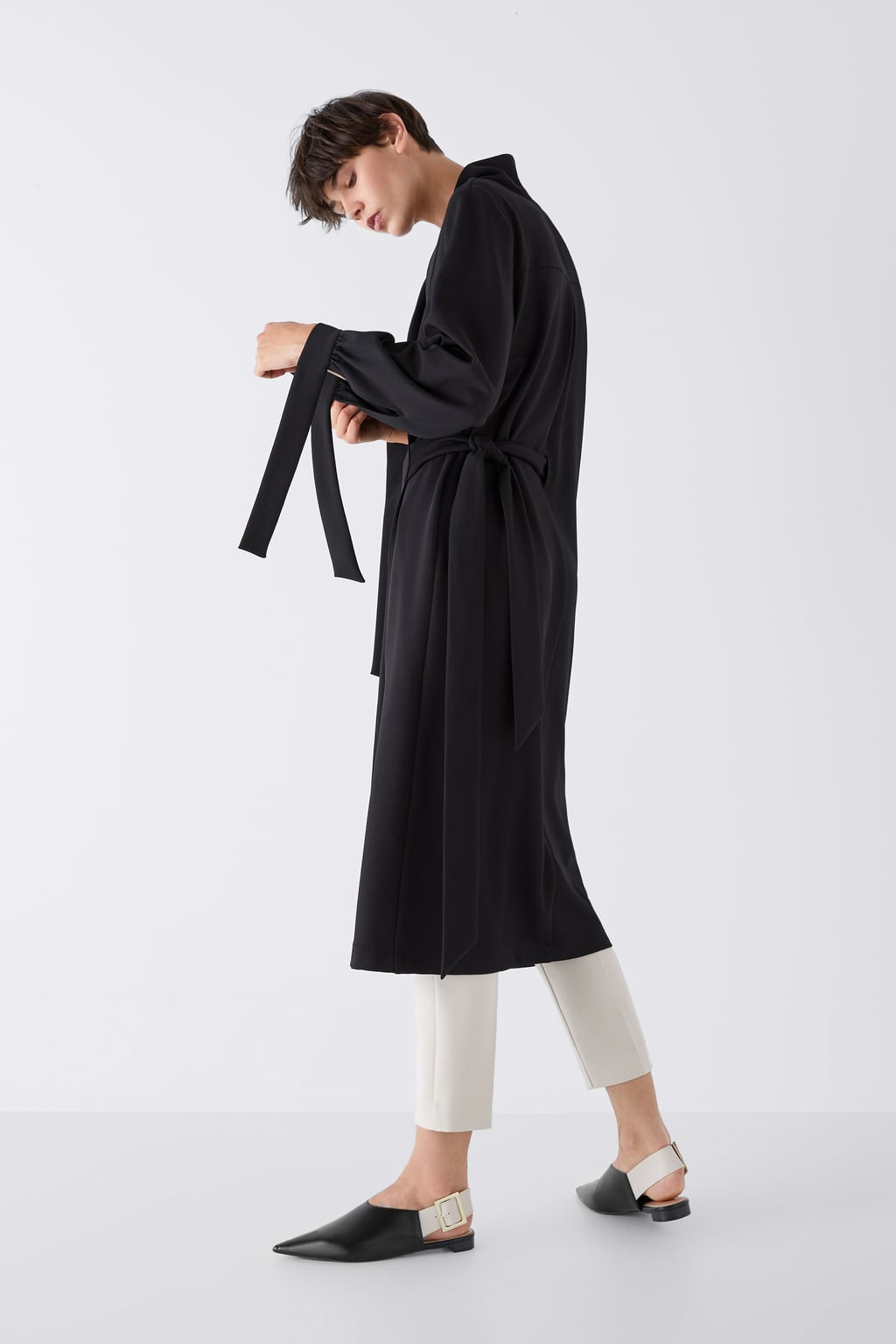 LOW HEELED SLINGBACKS WITH LARGE BUCKLEDETAILS. Zara. $59.90.