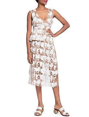 Floral Half Peplum Dress $244.99