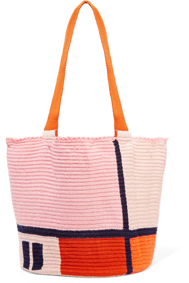 Sophie Anderson - Jonas Color-block Woven Tote. Net-a-Porter. $325.