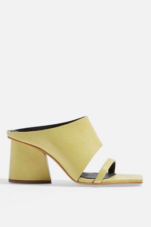 Rena Square Toe Mules $115 from TOPSHOP