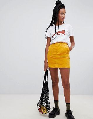Monki Cord Mini Skirt In Yellow ASOS $40