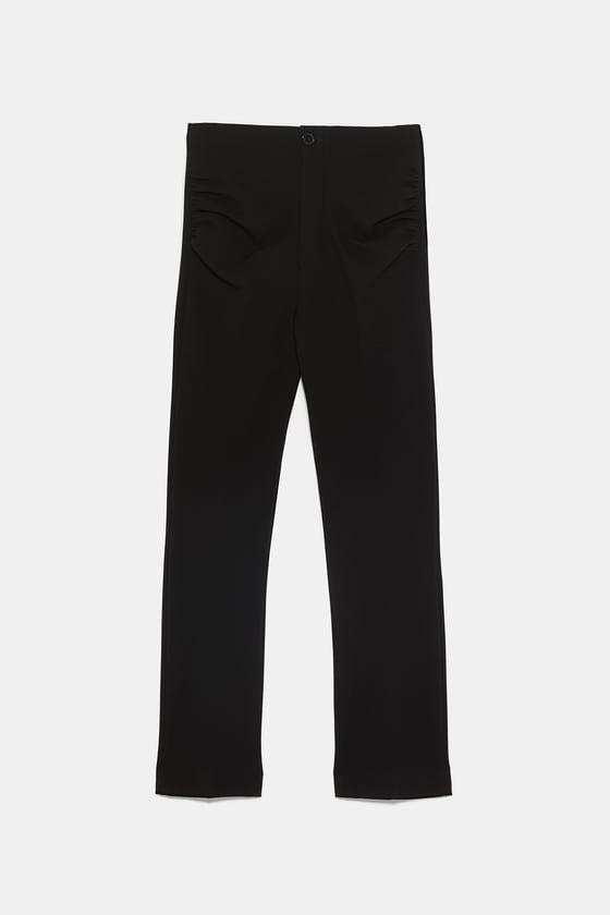 RUCHED STRETCH PANTS  $89.90 | ZARA