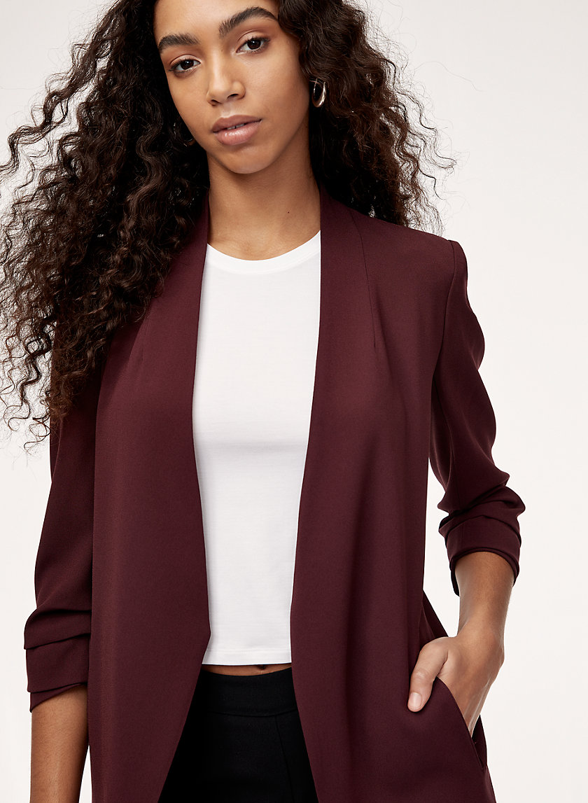 Longline jacket. Available in a zillion colors.