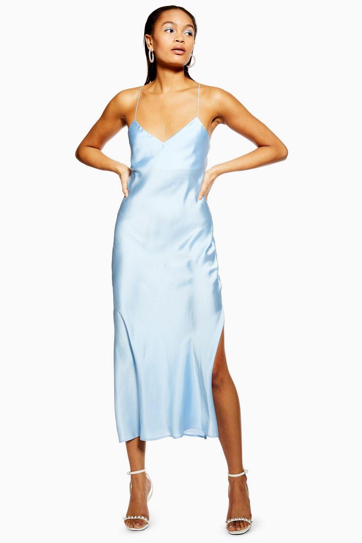 Satin Cowl Back Slip Dress.