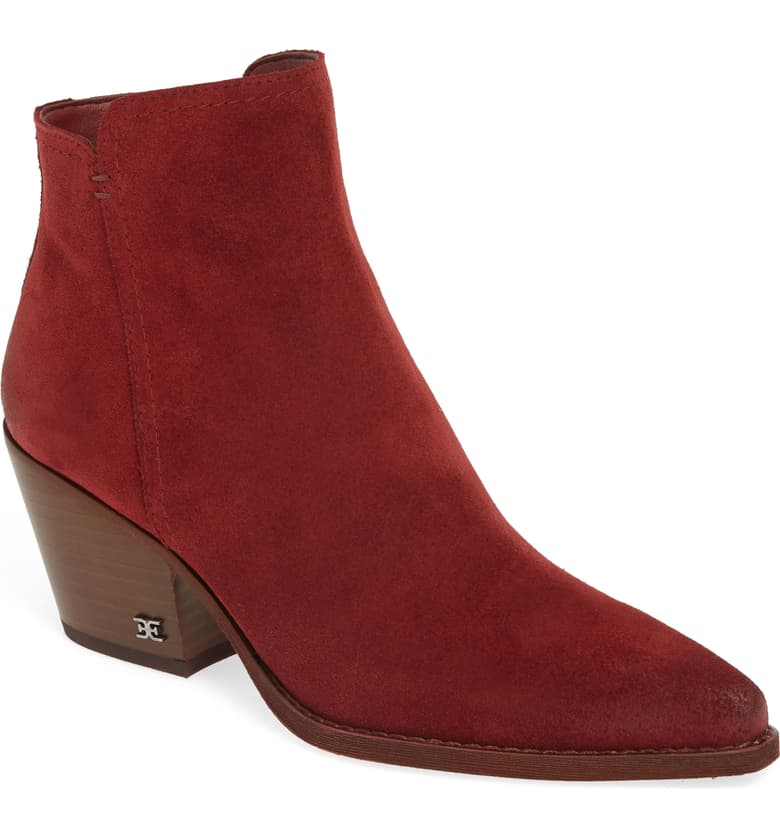 Yes! Your red boots do go with more than you thought they would. This deep color is going to bring you a lot of joy on those cloudy days.
