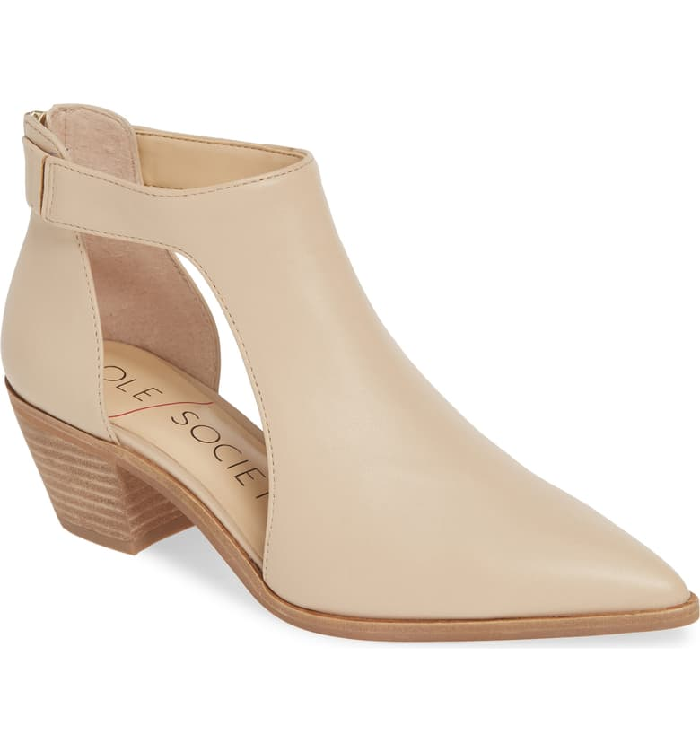 These nude ankle booties bring me so much joy. They add extra flavor to a minimalist vibe. The best of both worlds.