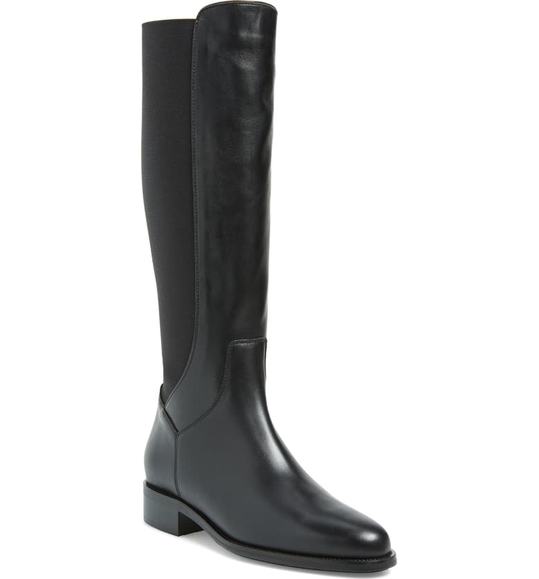 Aquatalia waterproof low heel knee high boots solve every problem and stand the test of time.