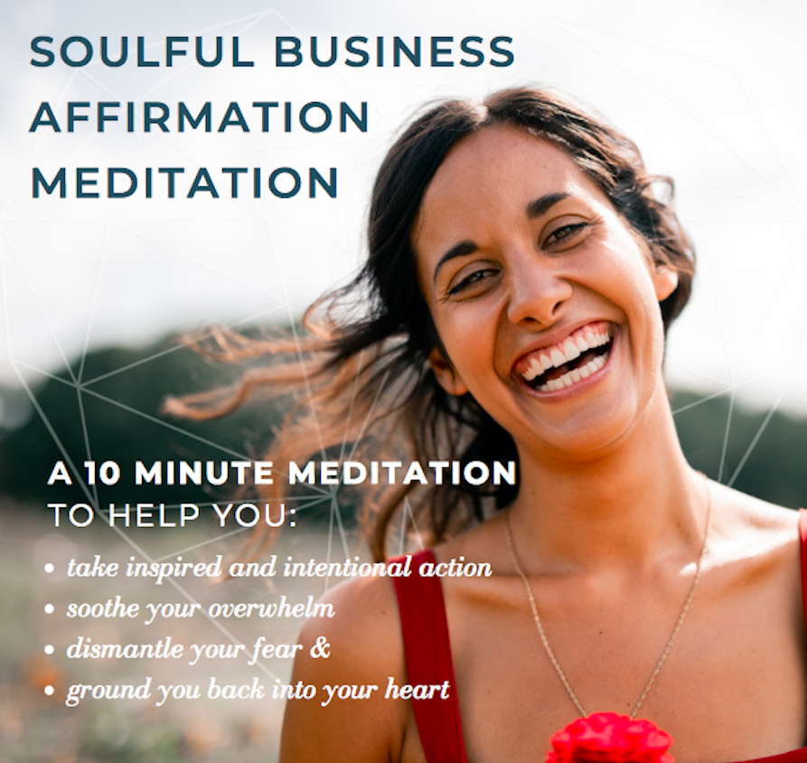Soulful business meditation free Che Johnson
