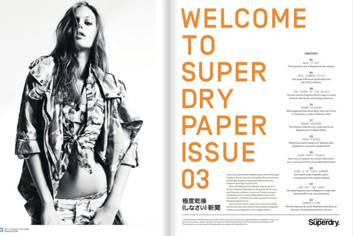 Store newspaper for Superdry