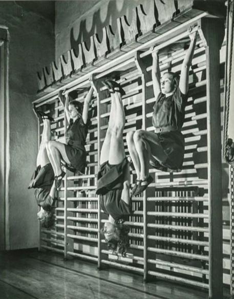 Vintage ladies hanging