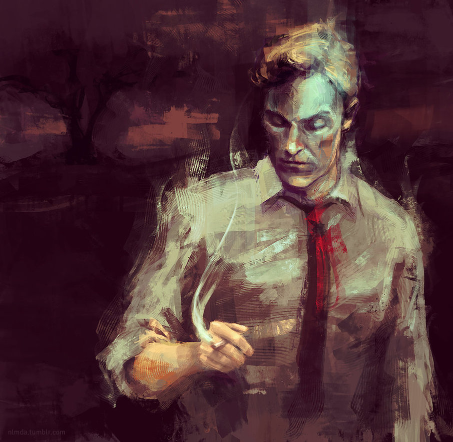 """""""This is a world where nothing is solved.  Someone once told me, 'Time is a flat circle.' Everything we've ever done or will do, we're gonna do over and over and over again."""" - Rust Cohle, True Detective   Painting by    ladynlmda"""