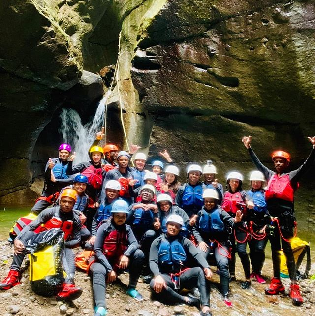 Cabrits Resort and Spa staff on a team-day to discover Canyoneering for the first time!