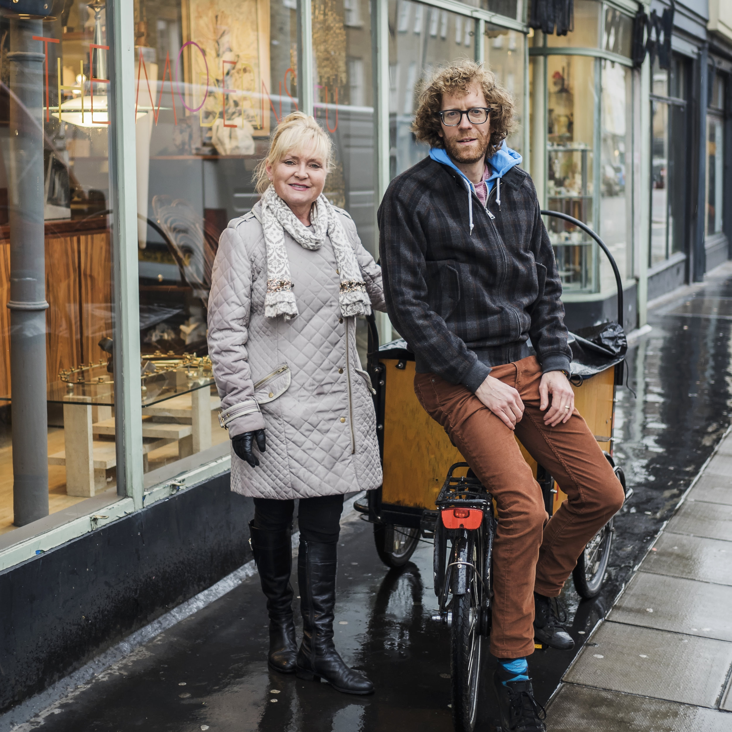 Caroline Cotton and Nathan Eddy of FoodCycle Marylebone