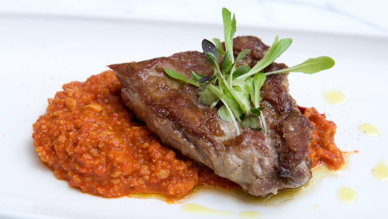 Ibérico de Bellota pork shoulder with romesco sauce