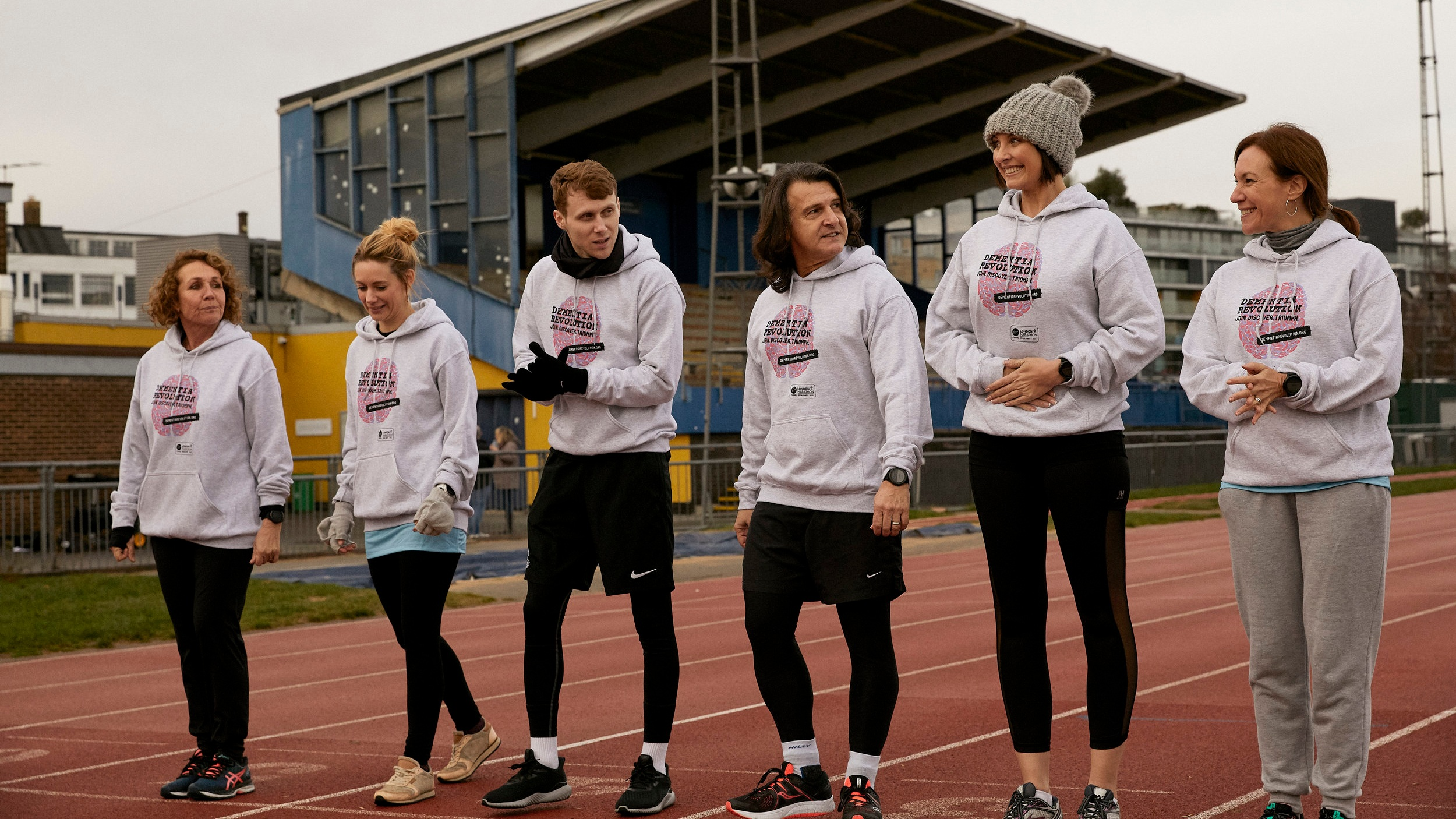 Left to right: Jane Slaughter, Kellie Shirley, Jamie Borthwick, Scott Mitchell, Emma Barton, Tanya Franks
