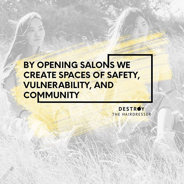 It's not just a business, it's a safe space. What does your salon protect? 💛💣