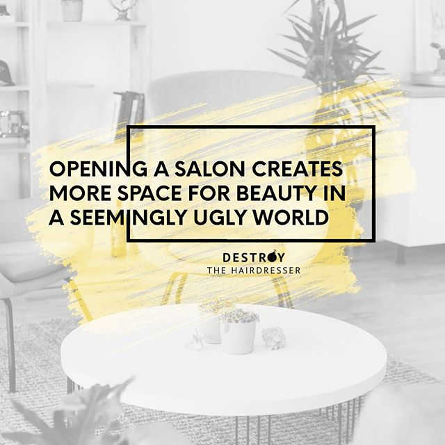 Whenever you are ready to open your salon, @destroythehairdresser is here to help. Whenever you are ready to take back your salon, @destroythehairdresser is here to help. 💛💣