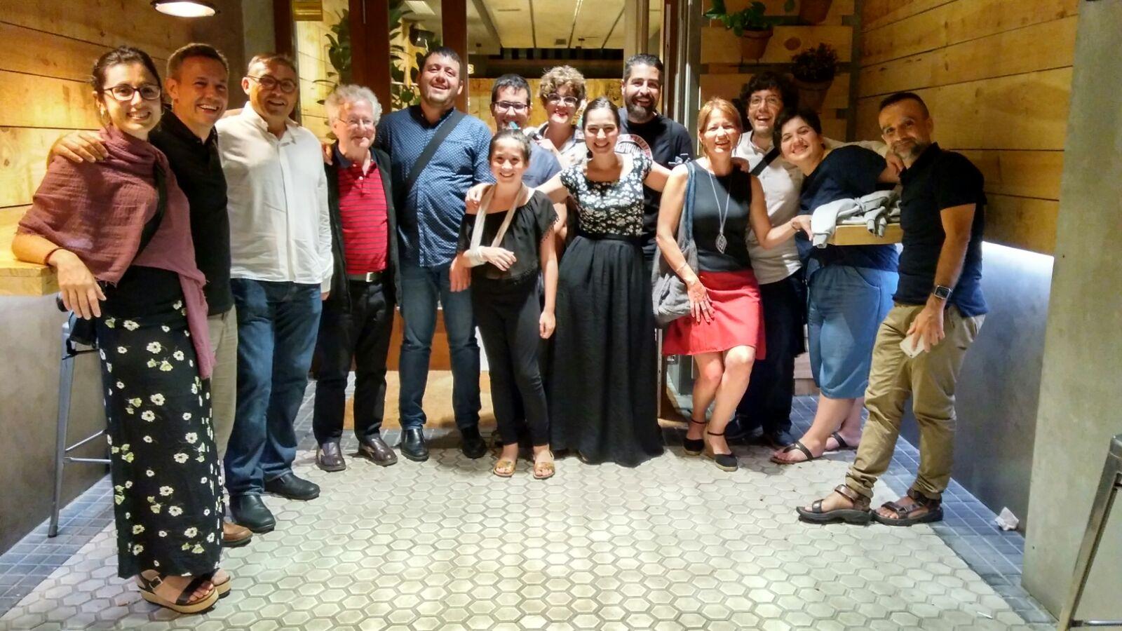 Cena con Ibarrondo, García y Río-Pareja