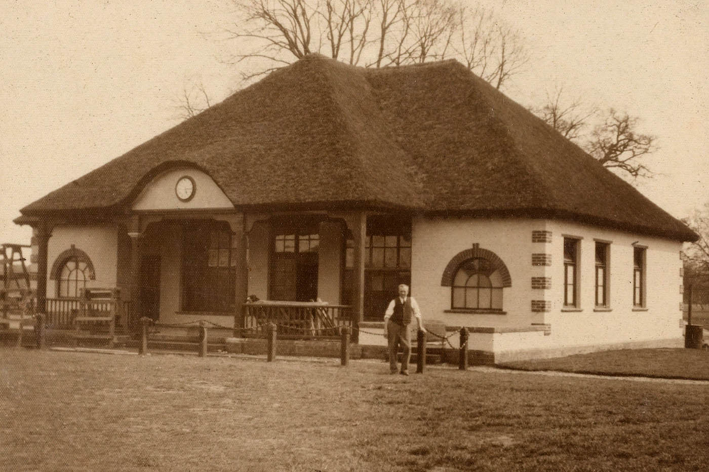 The Old Pavilion built in 1932 and destroyed by fire in June 1942