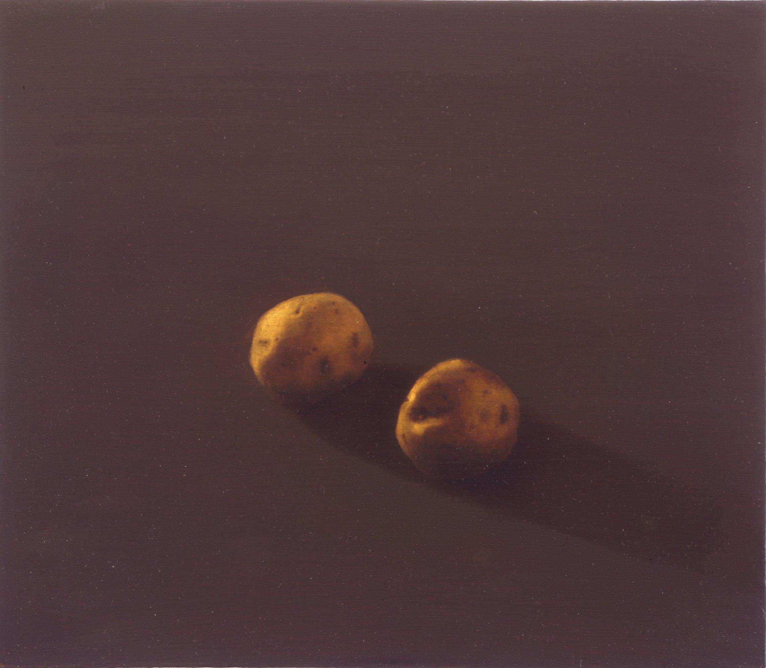 Potatoes, 1992-93, 14x15, o/board