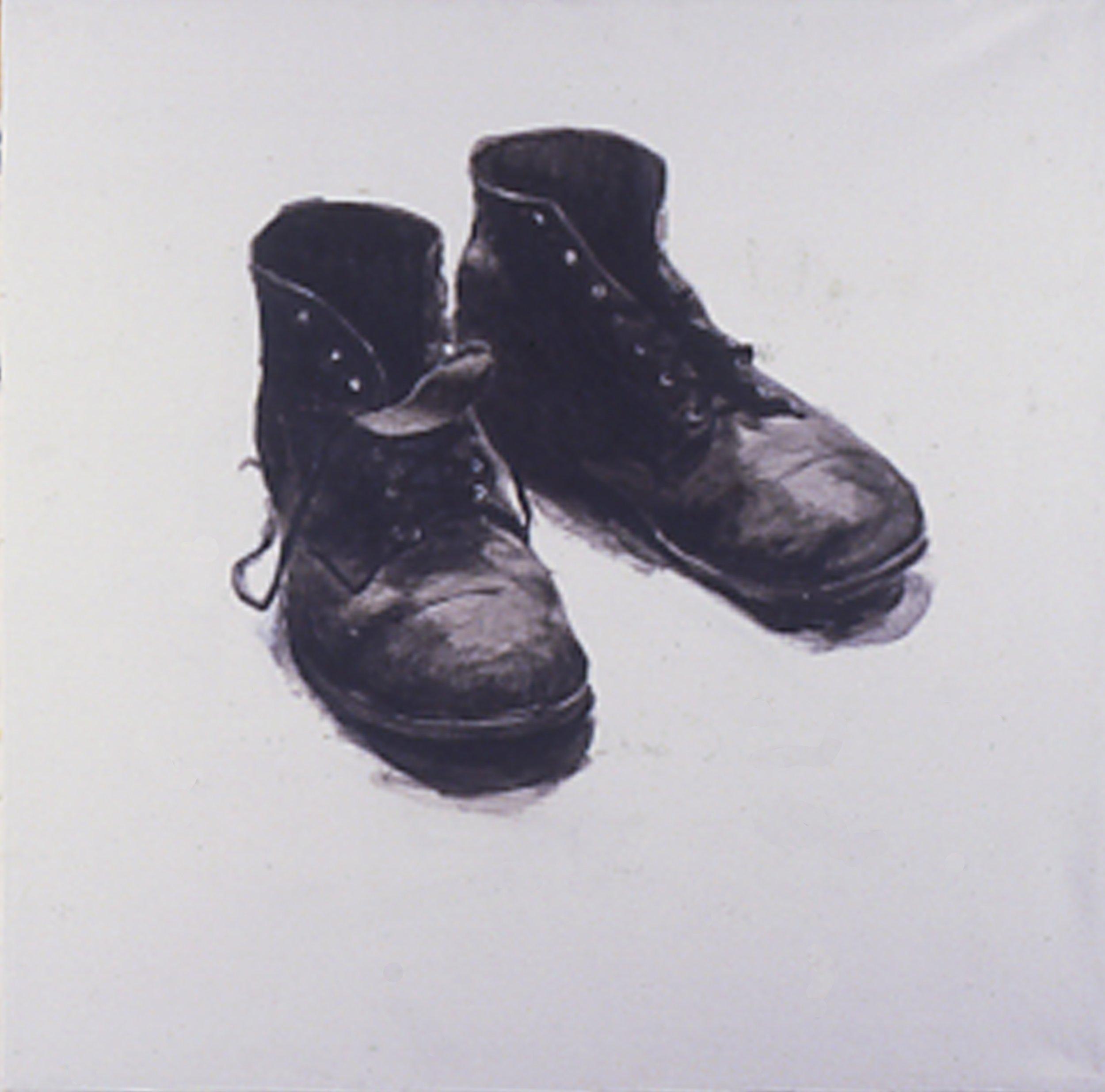 After Walker Evans, 1984, 30x30, Acrylic/c