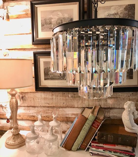 Araña lámpara caireles de cristal