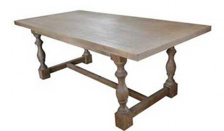 mesa en madera reciclada modelo brandon