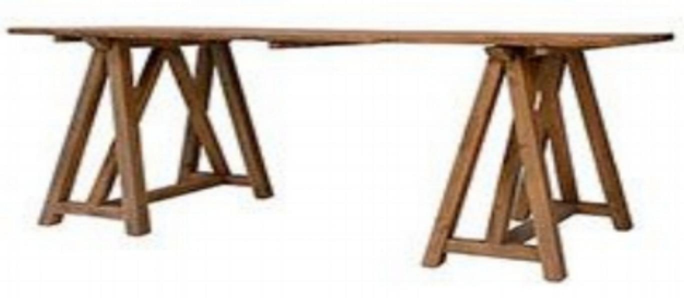 Mesa madera caballetes