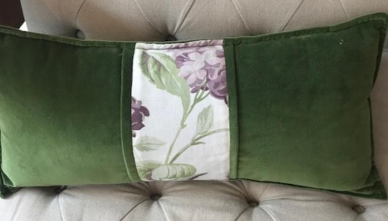 Almohadón terciopelo verde