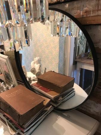 Espejo redondo hierro