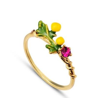 Anillo les fleurs sencillo