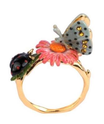 anillo mariposa y flor les fleurs