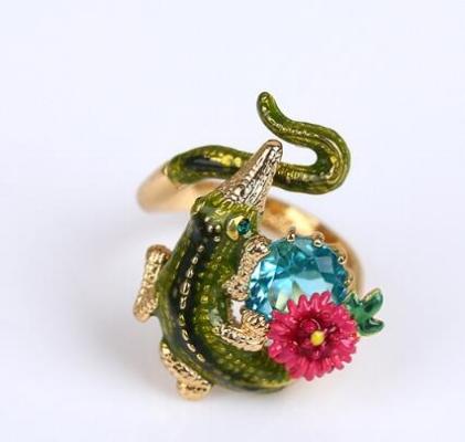 anillo les fleurs cocodrilo