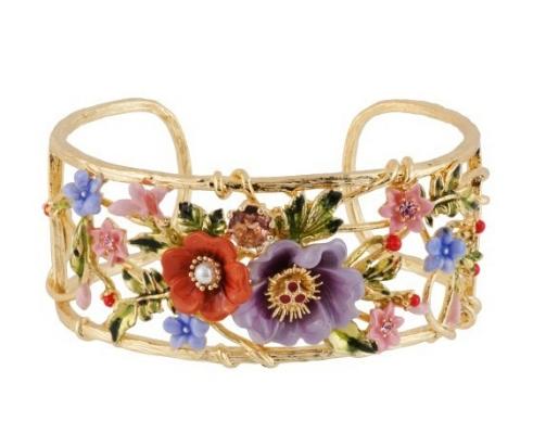 brazalete les fleurs flores oro