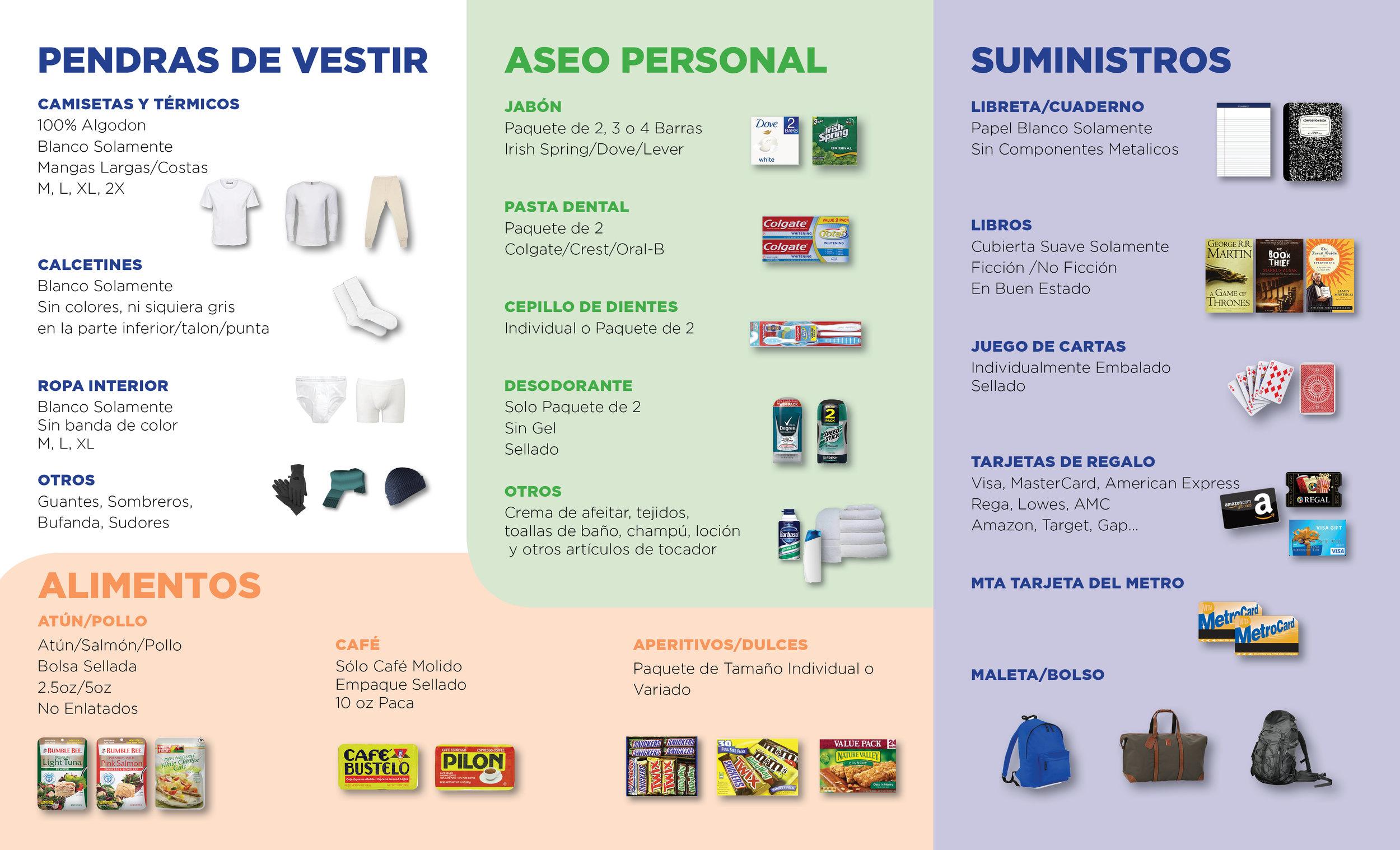 Welcome Home Mochilas y Paquetes de Cuidado - Damos la bienvenida a donaciones de ropa, alimentos, tarjetas metrocard y artículos de tocador