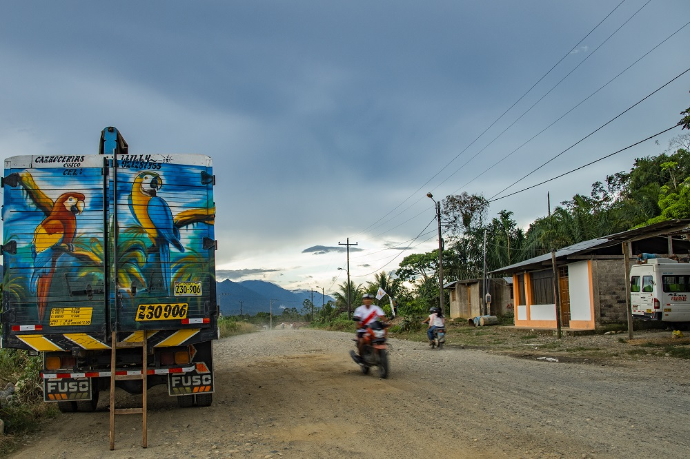 2. Banana truck in colour