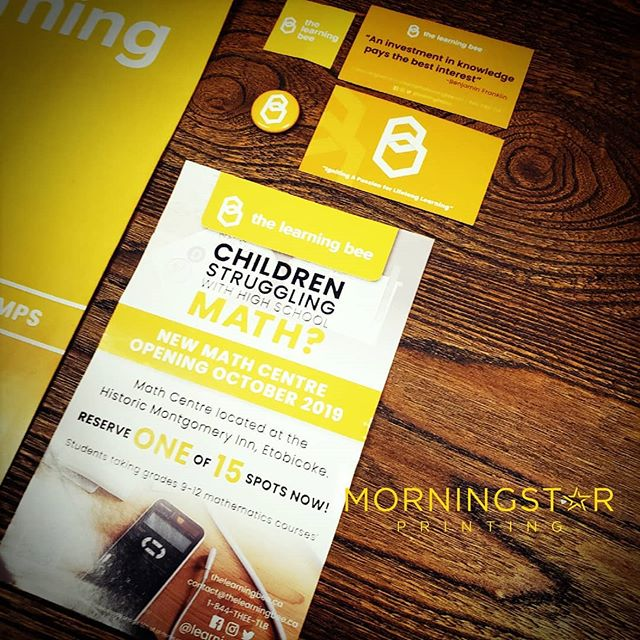 #Brochures, #Flyers, #Buttons, #PullupBanner, #Magnets and #Posters Designed and Printed for @learningbeeco  GET YOURS TODAY
