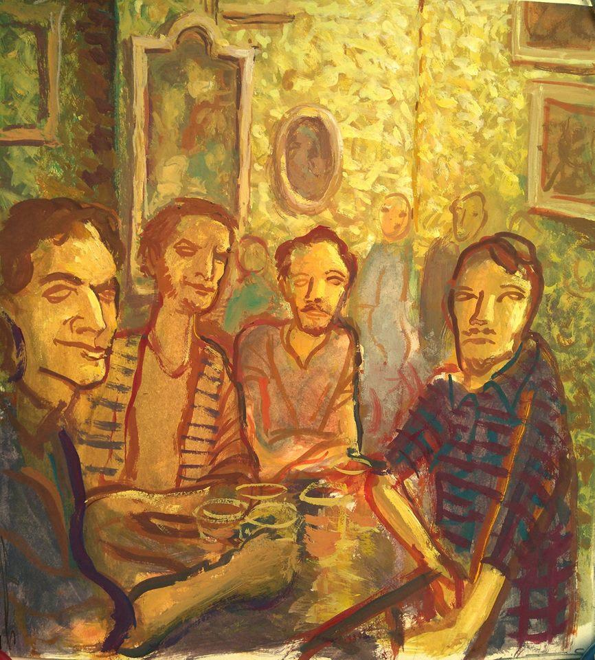 Four guys in Morrison's 2