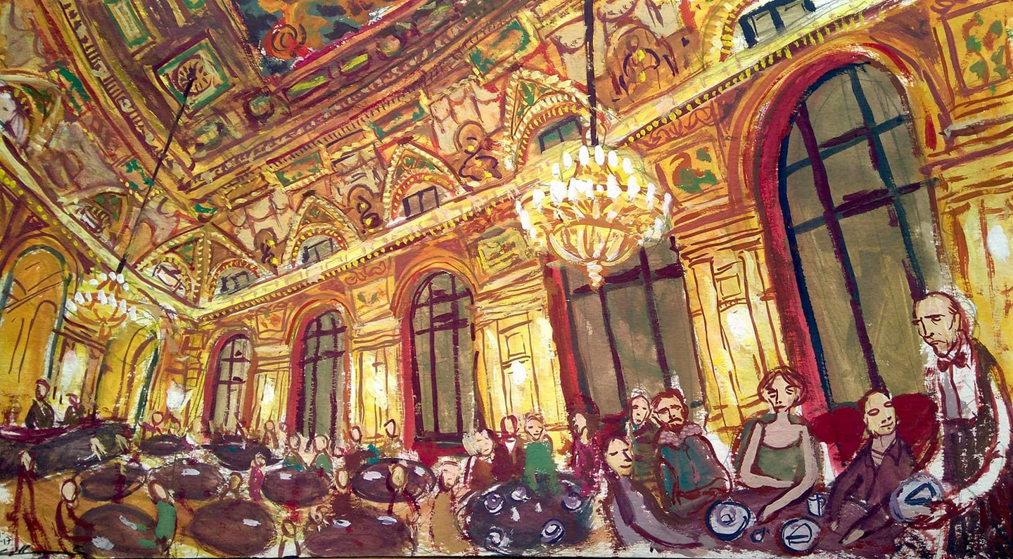 The Alexandra Cafe in Budapest
