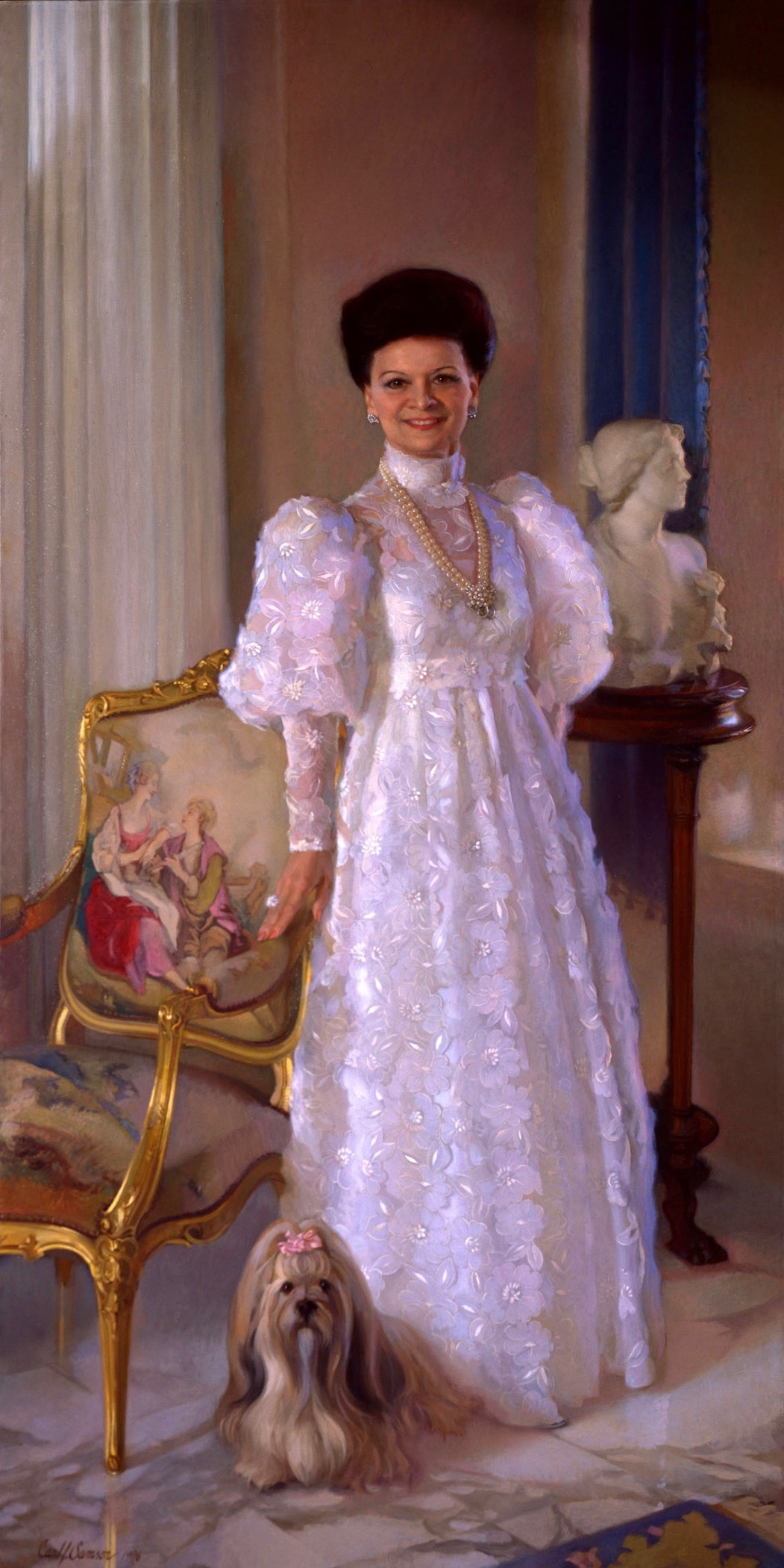 Oil Portrait, Isabelle & Candie
