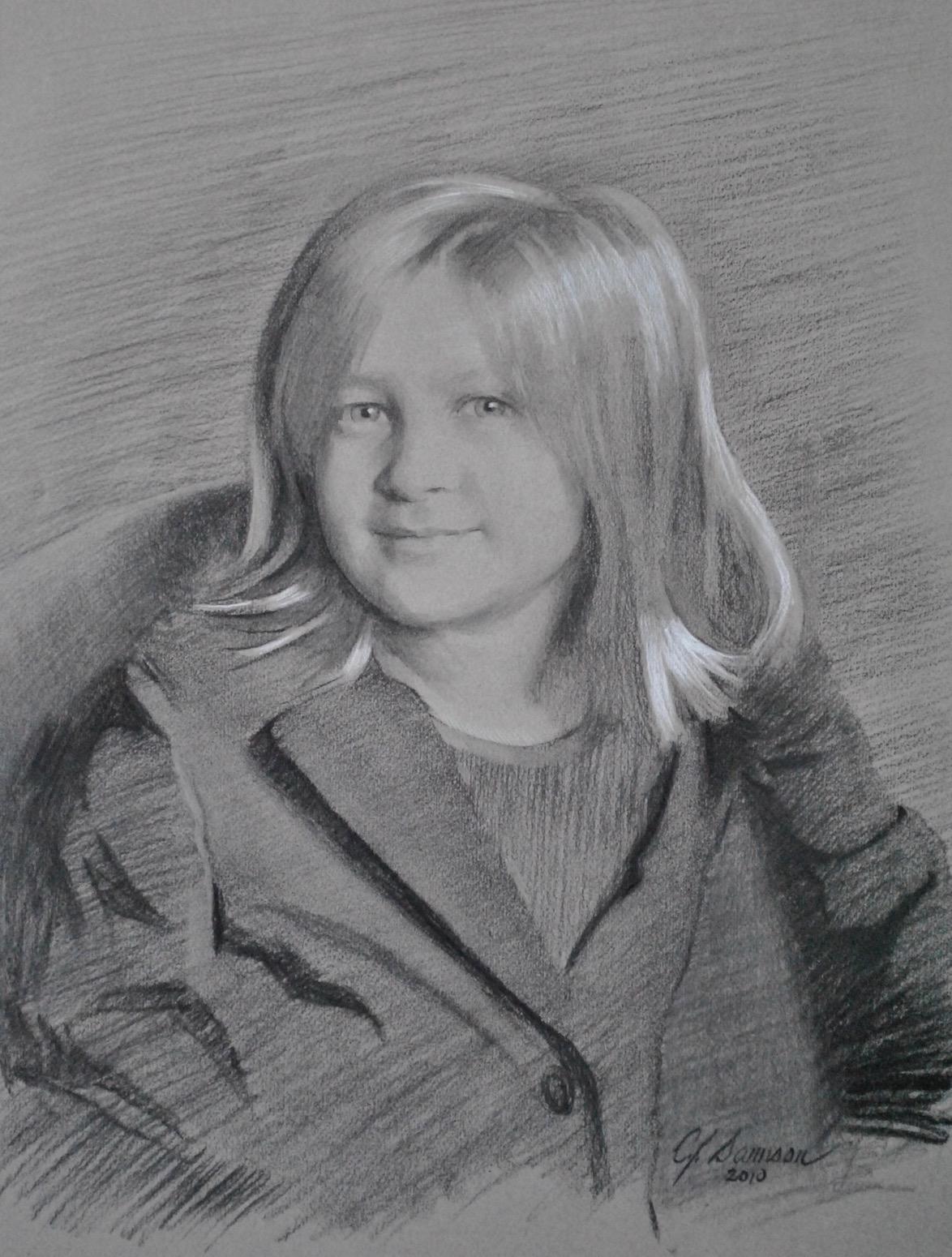 Charcoal Portrait, Izzy
