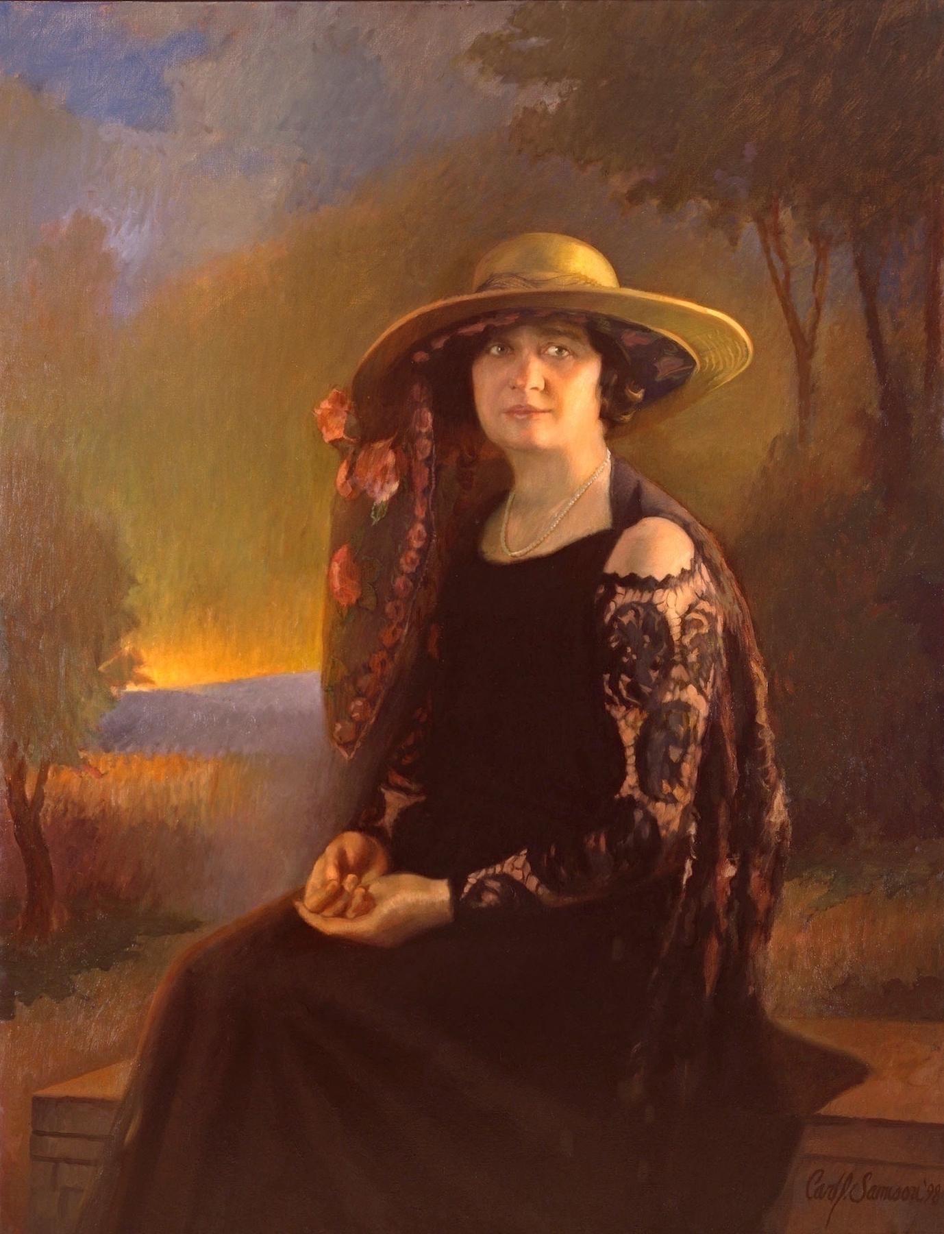 Posthumous Oil Portrait, Olive Kettering