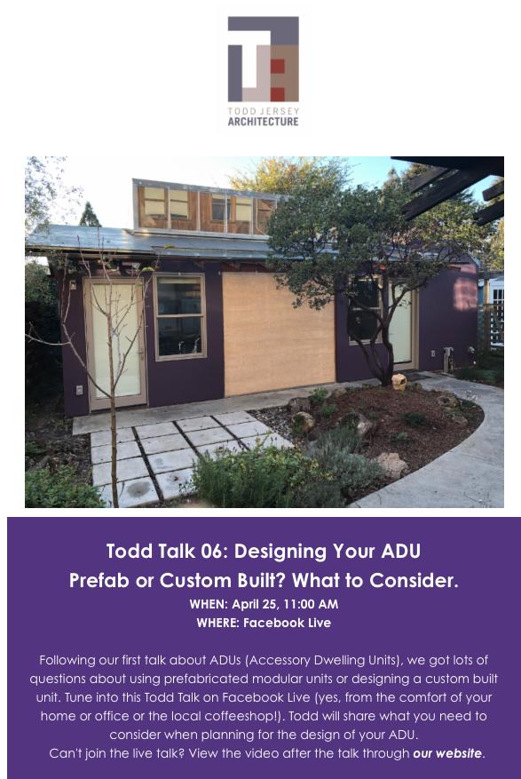 Designing Your ADU: Pre-Fab or Custom Built (4.25.19)