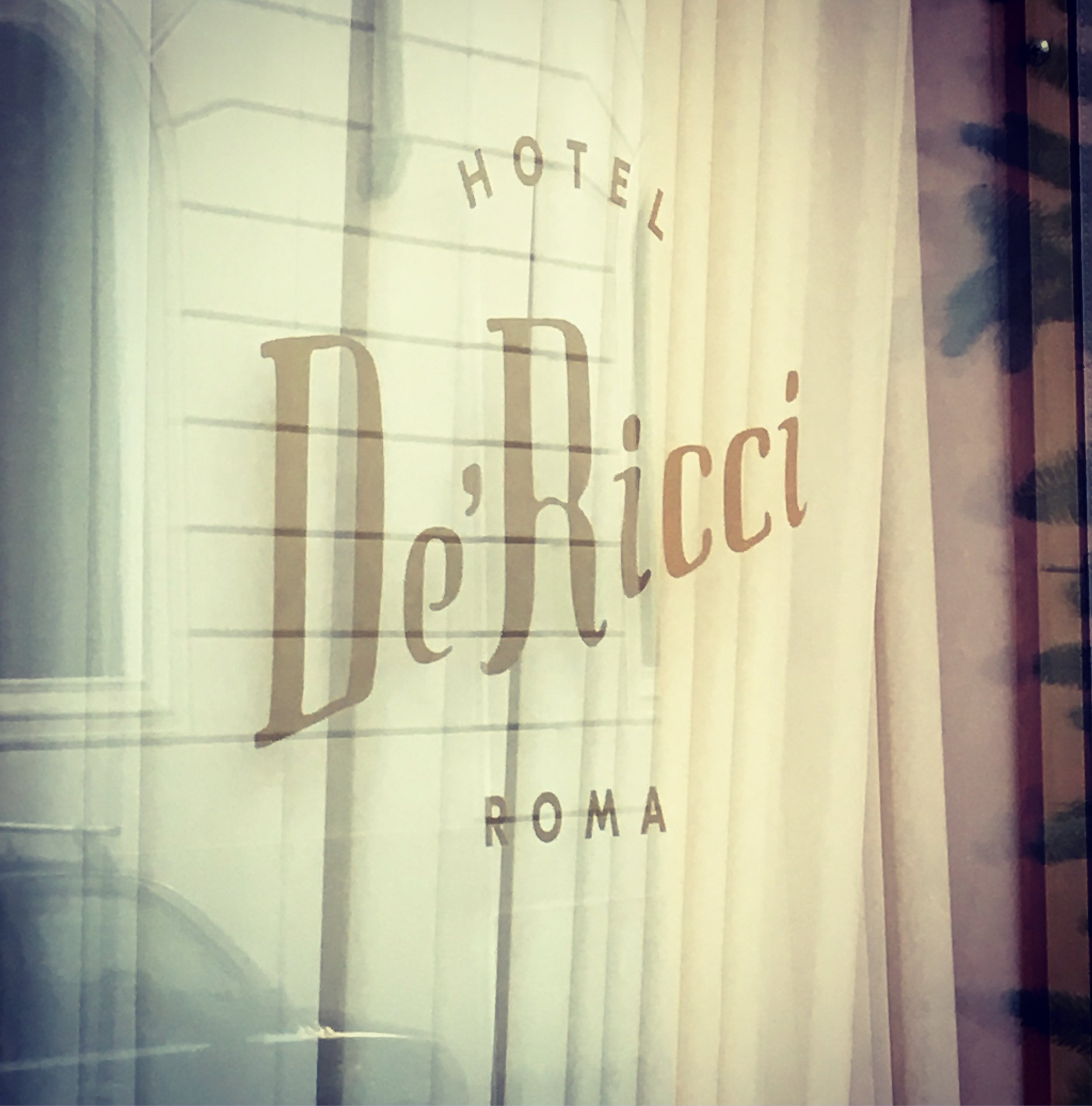 Decor and branding for Hotel De'Ricci, Rome