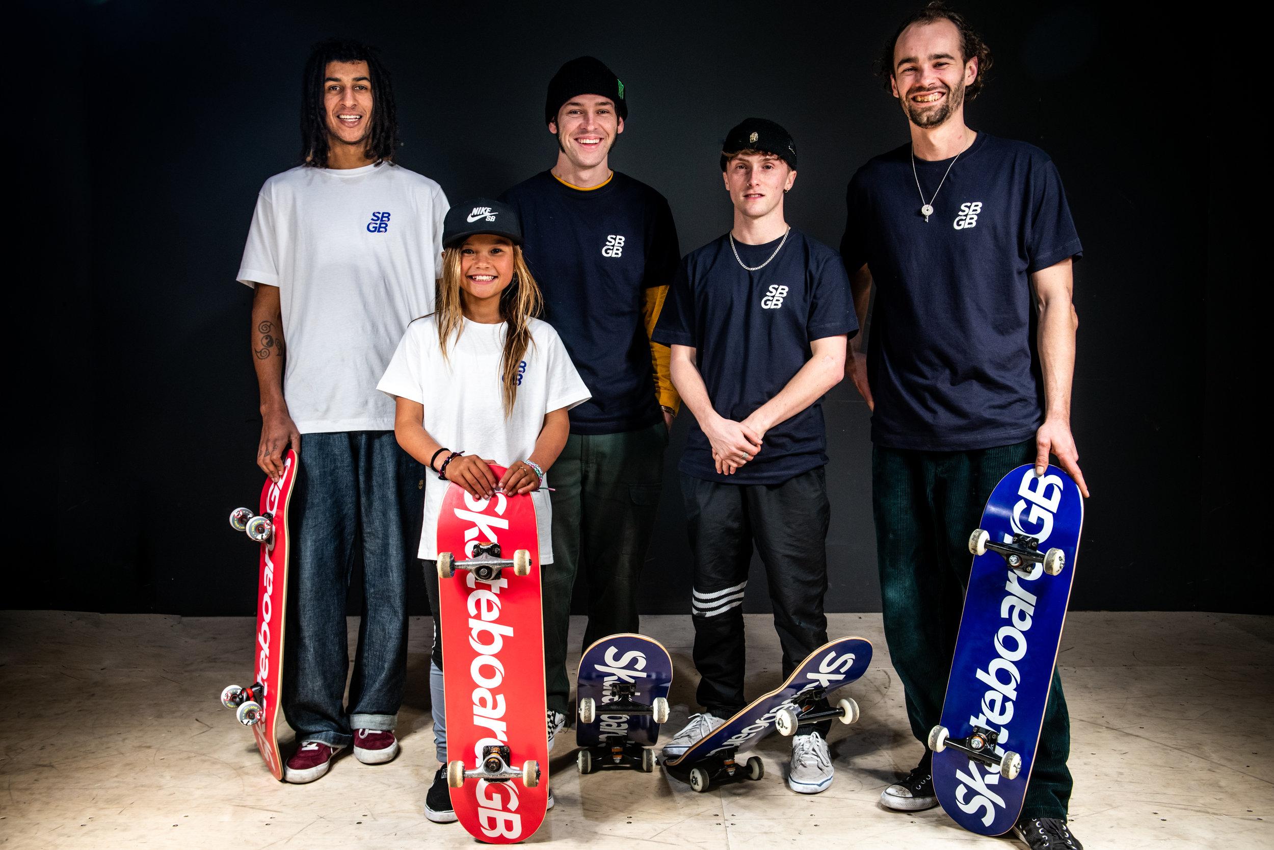 2019 Skateboard GB Team. Photo: Garry Jones