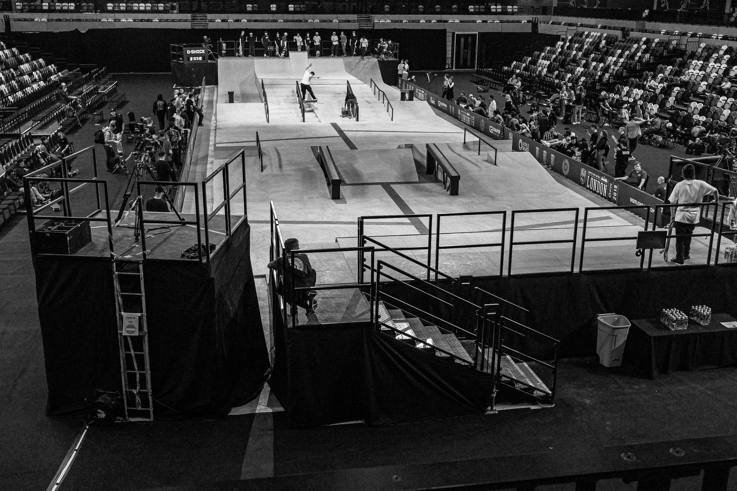 Skateboarding Copperbox Arena London