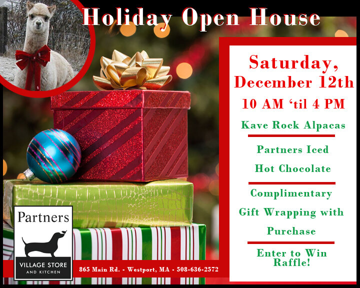 Holiday Open House at Partners @ Partners Village Store and Kitchen