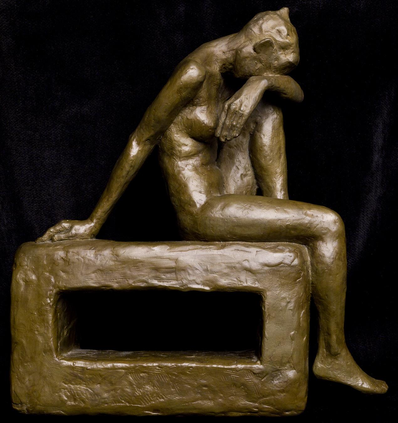 """""""Artist's Block"""", bronze, 9.5""""H x 9""""W x 3""""D, ed. 2/8,  2008"""