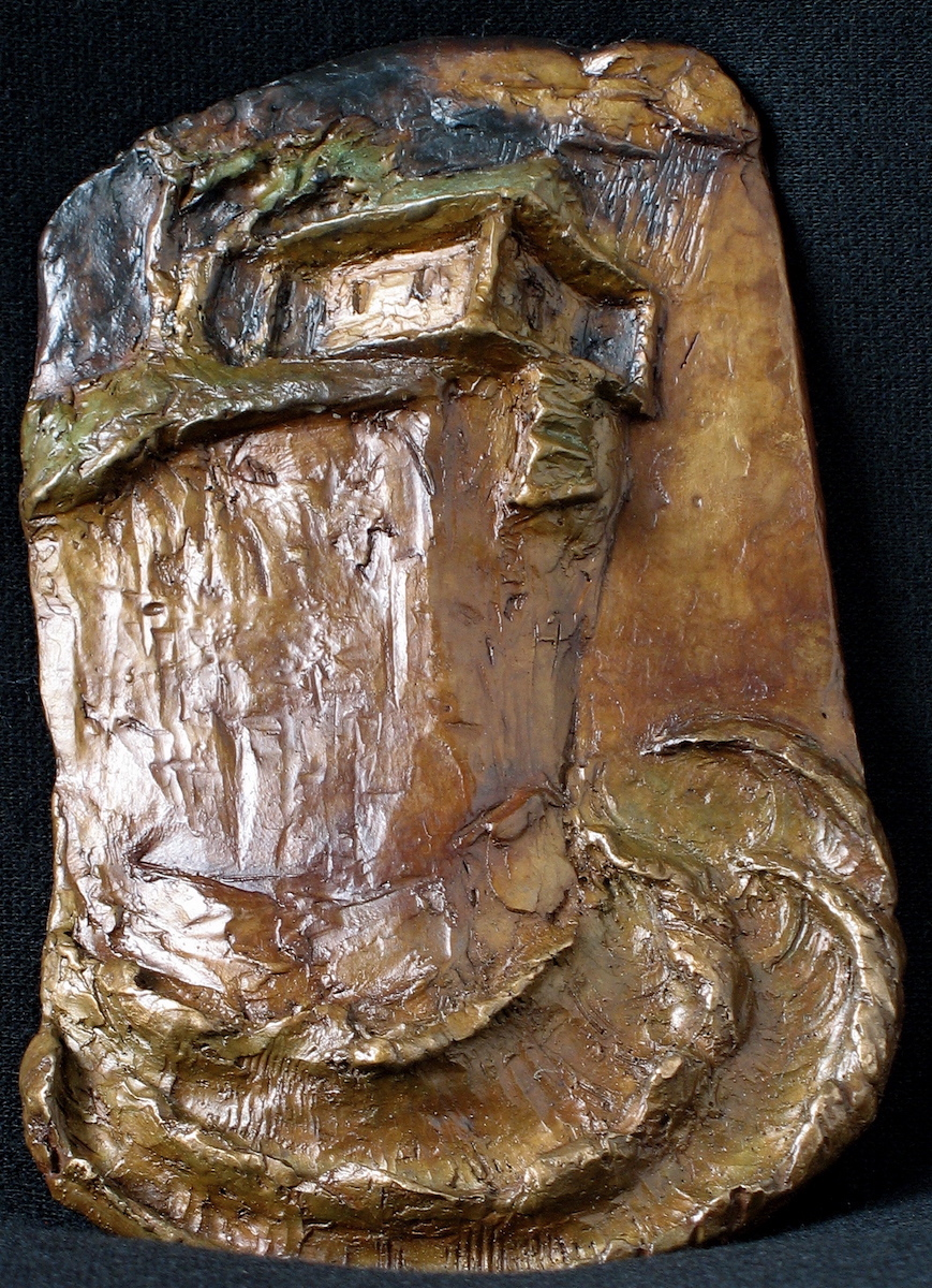 """Close to the Edge"", bronze, 5.75""H x 4""W x .25""D, 2012"