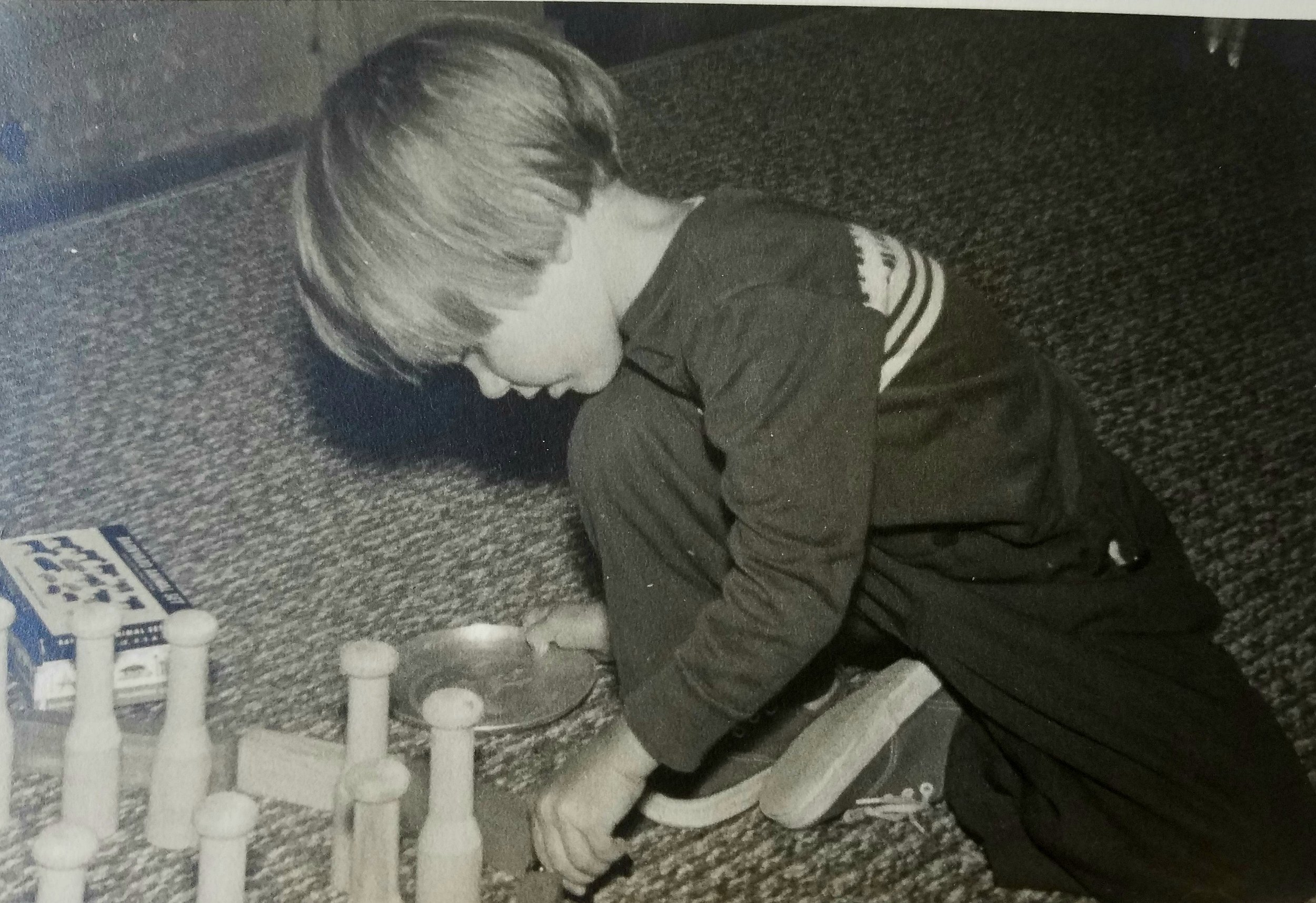 beginning with grandfather's building blocks, Cotuit, MA, 1954